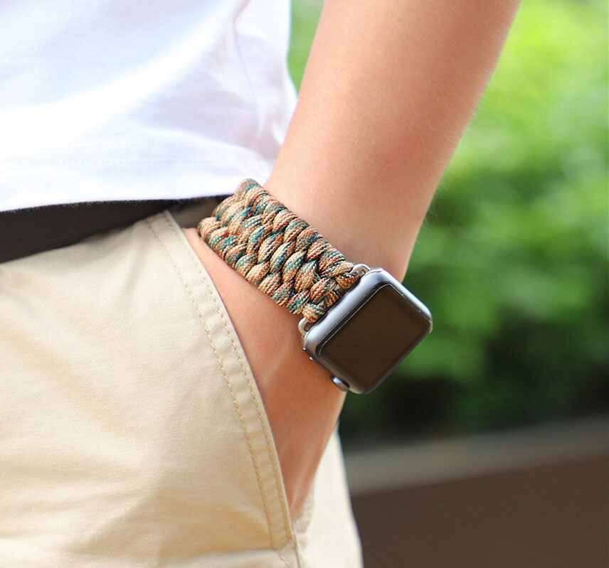 Michaelcoblin.com - Survival Paracord Watch Band For Apple Watch
